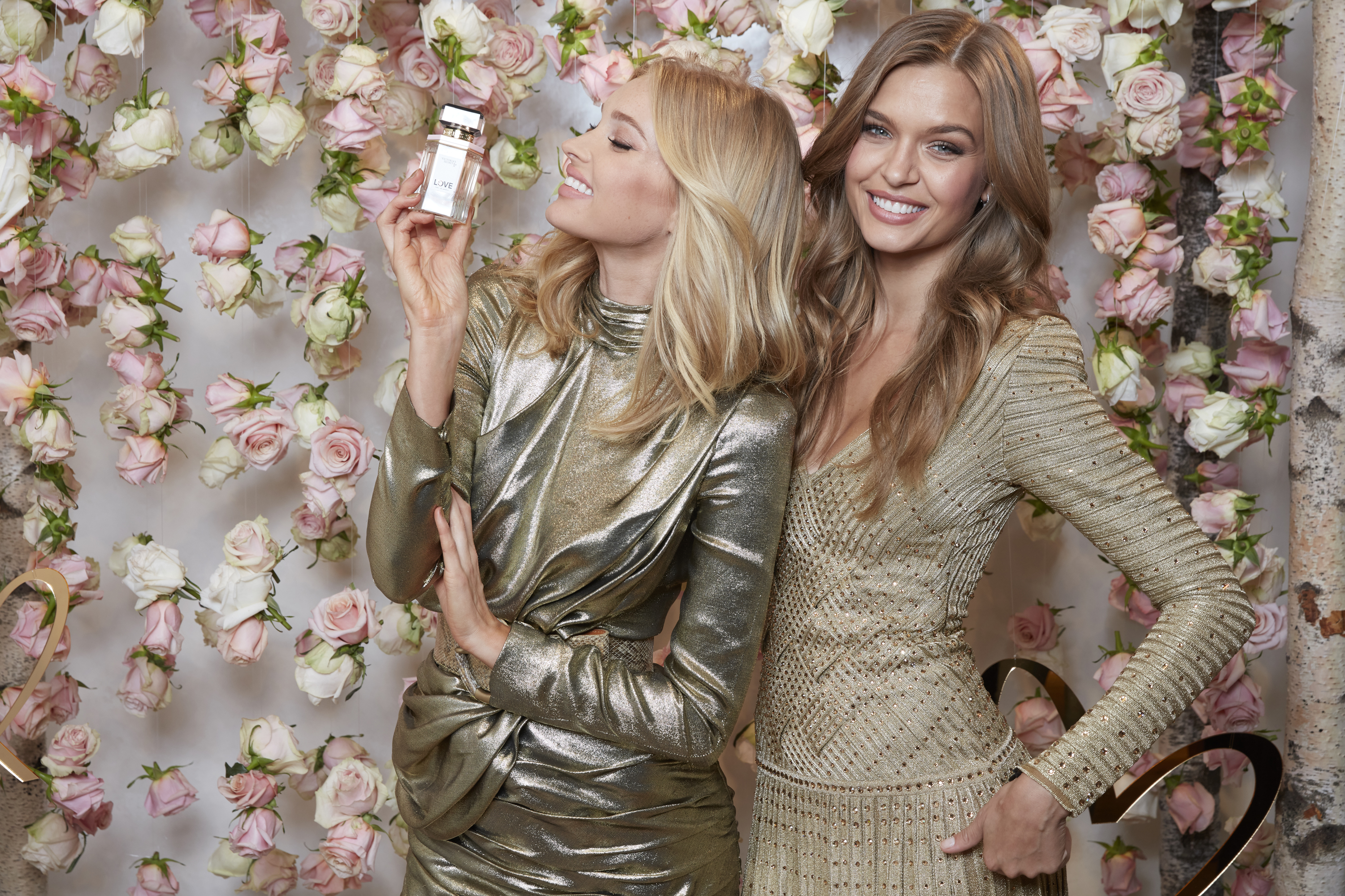 Victoria's Secret Angels Josephine & Elsa Modeling For The Victoria's Secret LOVE Fragrance Collection Launch Event.