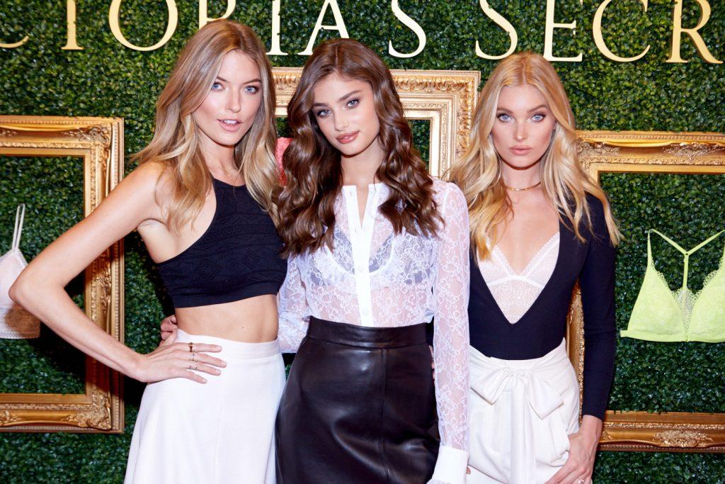Victoria's Secret Angels Martha, Taylor, & Elsa At Herald Square Live Bralette Launch Press Event. Venues Of The Victoria's Secret Fashion Show. Locations In Victoria's Secret Fashion Show History.