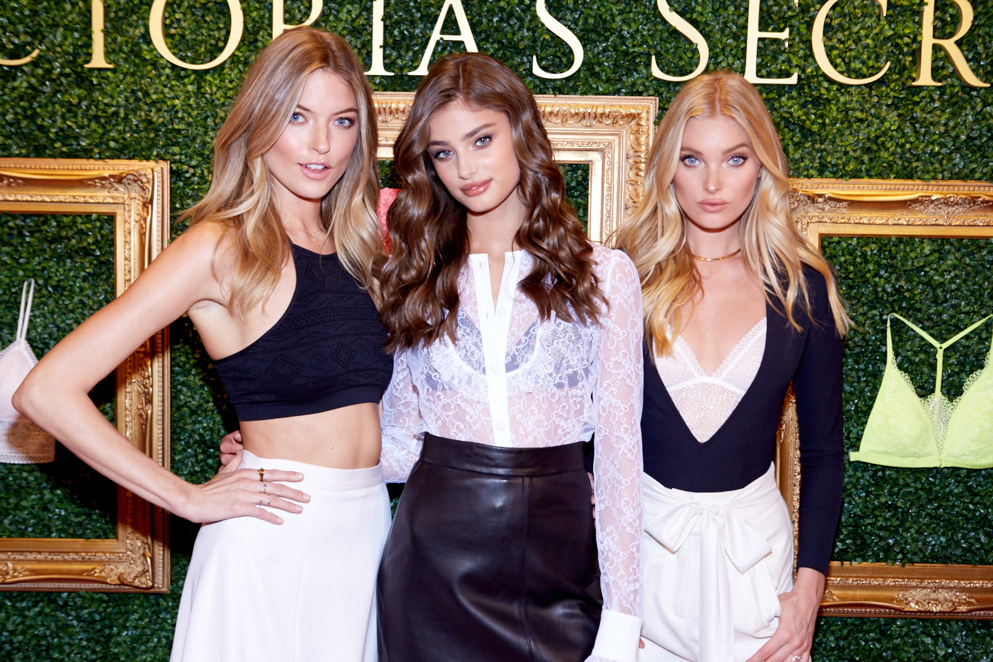 Victoria's Secret Angels Martha, Taylor, & Elsa At Herald Square Live Bralette Launch Press Event. Venues Of The Victoria's Secret Fashion Show. Locations In Victoria's Secret Fashion Show History.