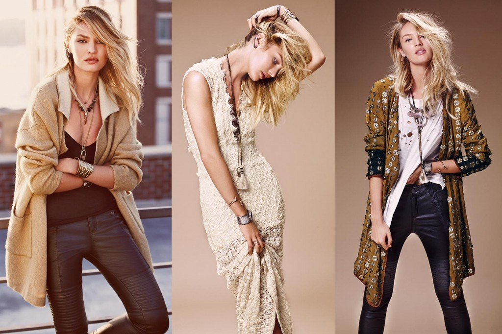 How To Become A Free People Model And How To Model For Free People - Beautiful Blonde South African Model Candice Swanepoel Modeling For Free People Advertisements (Free People Ads).