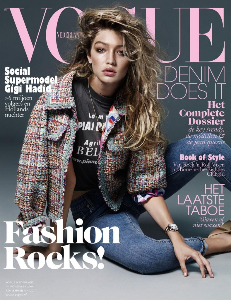 Beautiful Blonde American Fashion Model Gigi Hadid Modeling For The Cover Of Vogue Netherlands And Vogue Netherlands Fashion Editorials Modeling As One Of The Highest Paid Models In The World. The World's Highest Paid Models. The Top Earning Models In The World.