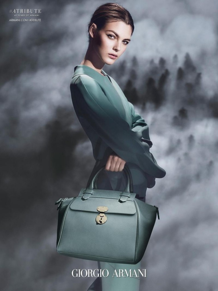 Beautiful Italian Fashion Model Vittoria Ceretti Modeling For The Giorgio Armani Advertising Campaign And Beautiful Giorgio Armani Ads.