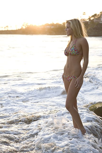 ZARZAR MODELS Jessica Harbour More Beautiful And Stunning Than Ever In A Hot Sexy Swimsuit Modeling At The Beach.