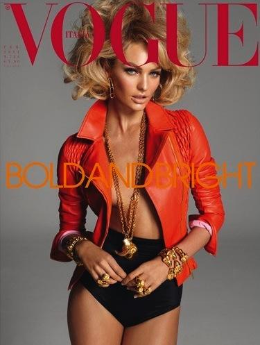 Beautiful Blonde Model Candice Swanepoel Modeling For Vogue Italy Magazine Cover And Vogue Italia Editorial Modeling For Photographer Steven Meisel