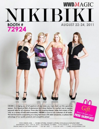 Beautiful Blonde ZARZAR MODEL Jessica Harbour Modeling In Los Angeles Southern California In Beautiful Nikibiki Dresses And Black Heels For Nikibiki Apparel Advertisements.