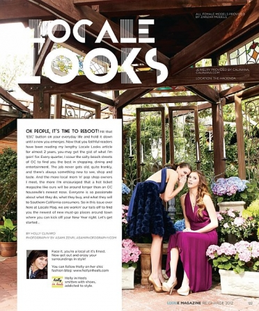 ZARZAR MODELS Congratulates Beautiful Brunette Models Tayler Ahern And Whitney Ladnier For Their 2012 Fashion Modeling Editorial For Locale Magazine Southern California.