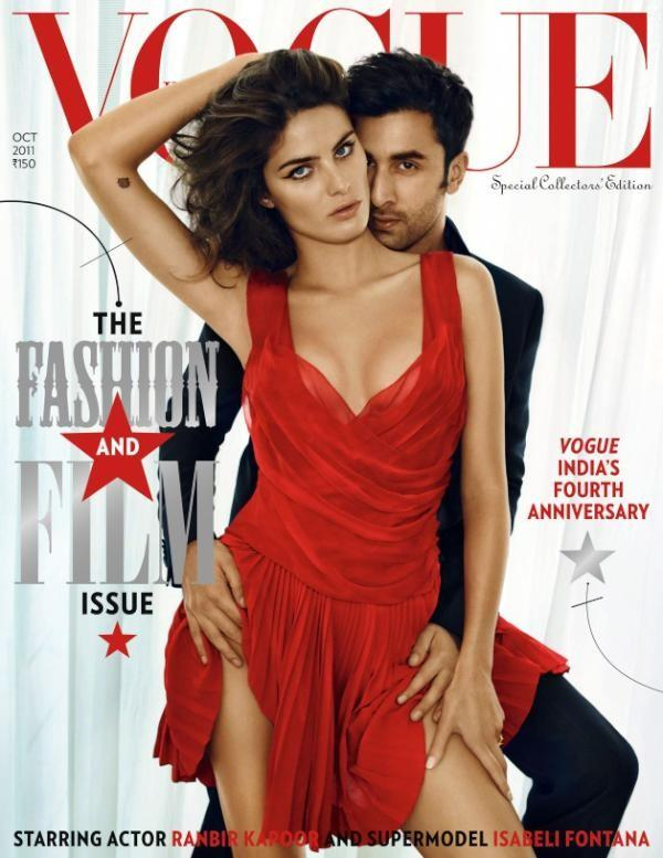 Beautiful Brazilian Model Isabeli Fontana Modeling For The Cover Of Vogue India Fashion Magazine Modeling In Beautiful Red Dresses For Vogue India Magazine Editorials Special Collectors Issue