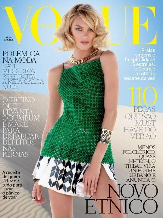 Beautiful South African Model Candice Swanepoel Modeling For The Cover Of Vogue Brazil (Vogue Brasil) Fashion Magazine Modeling For Vogue Brasil Magazine Fashion Editorials