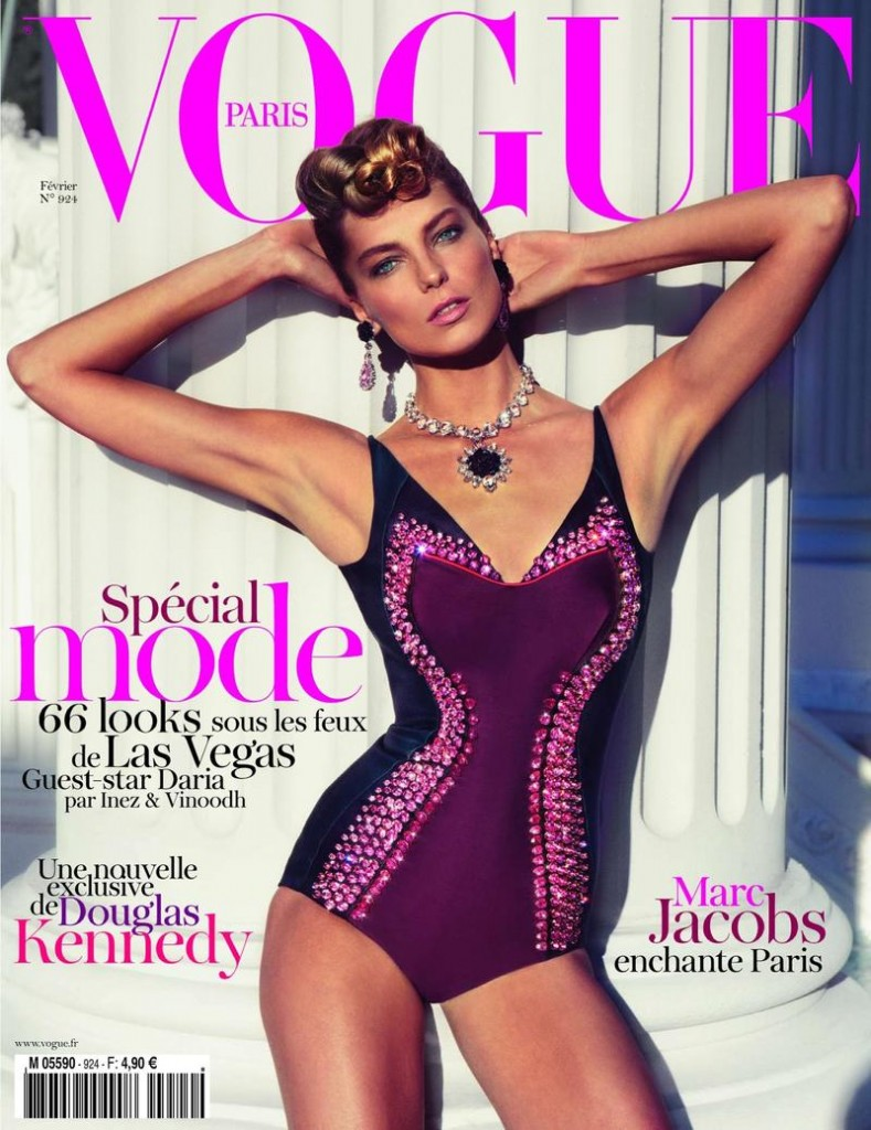 Beautiful Model Daria Werbowy Modeling For The Cover Of Vogue Paris Magazine Photographed By Inez Van Lamsweerde And Vinoodh Matadin For Vogue Paris Fashion Editorials Hair By James Pecis Makeup By Lisa Butler