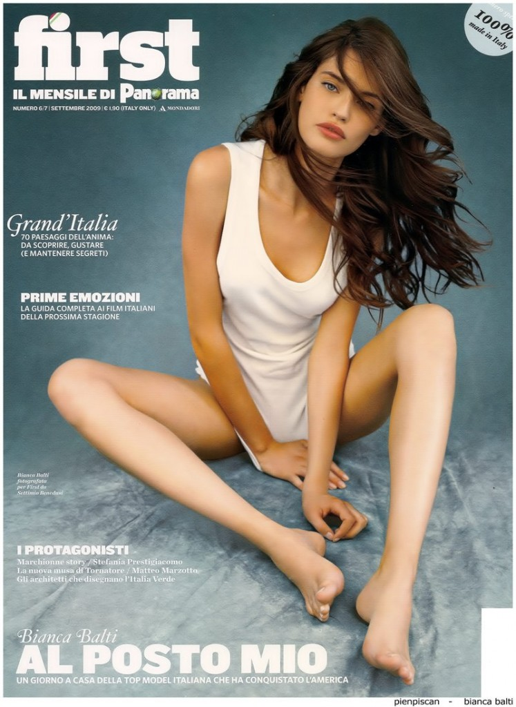 Beautiful Italian Brunette Model Bianca Balti Modeling For The Cover Of First Magazine Brunette Italian Model Bianca Balti Highest Paid Models In The World.