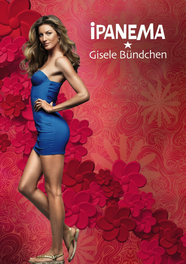 Beautiful Blonde Brazilian Model Gisele Bundchen Modeling For Ipanema Gisele Bundchen Fashion Ads Modeling As The Highest Paid Model In The World Earning $42 Million Dollars In The Past Year.