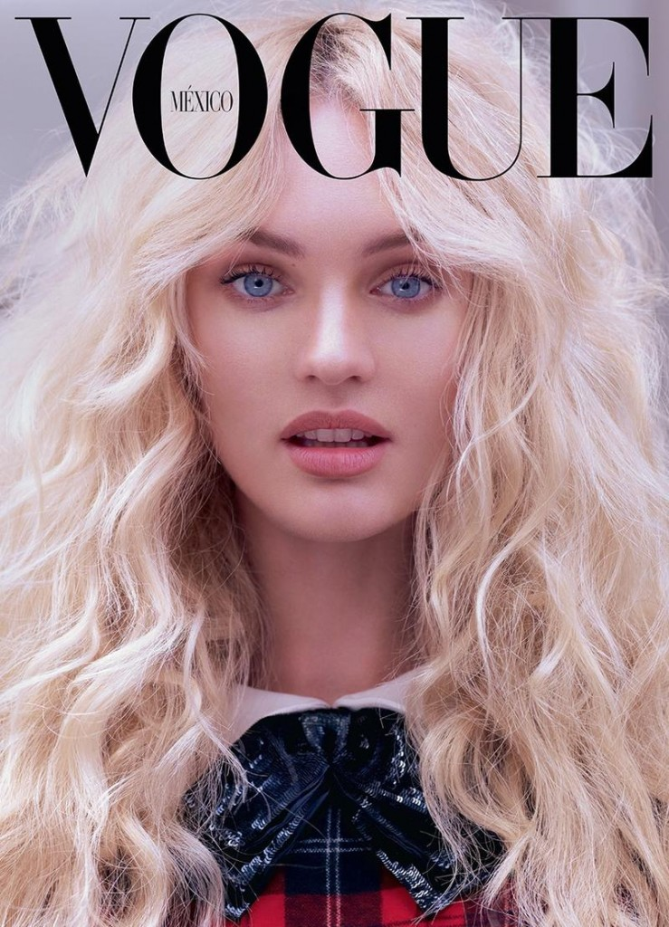 Beautiful Blonde Victoria's Secret Angel Candice Swanepoel Modeling For The Cover Of Vogue Mexico Magazine Wearing Beautiful Makeup. Victoria's Secret Model Candice Swanepoel Had Her Beautiful Blonde Hair Styled By Hair Stylist Fernando Torrent And Her Beautiful Makeup Done By Makeup Artist Ayami Nishimura.