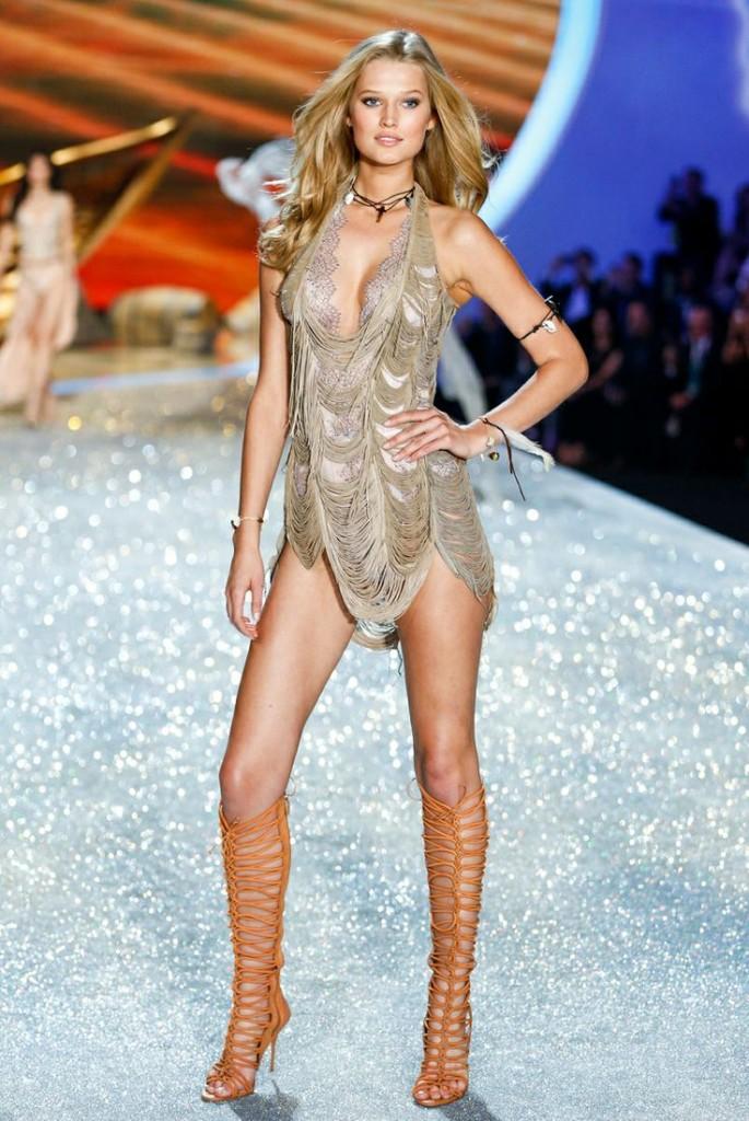 The Victoria's Secret Fashion Show Featuring Beautiful German Victoria's Secret Model Toni Garrn Modeling For Victoria's Secret In Sexy Victoria's Secret Lingerie After Her Successful Victoria's Secret Fittings.