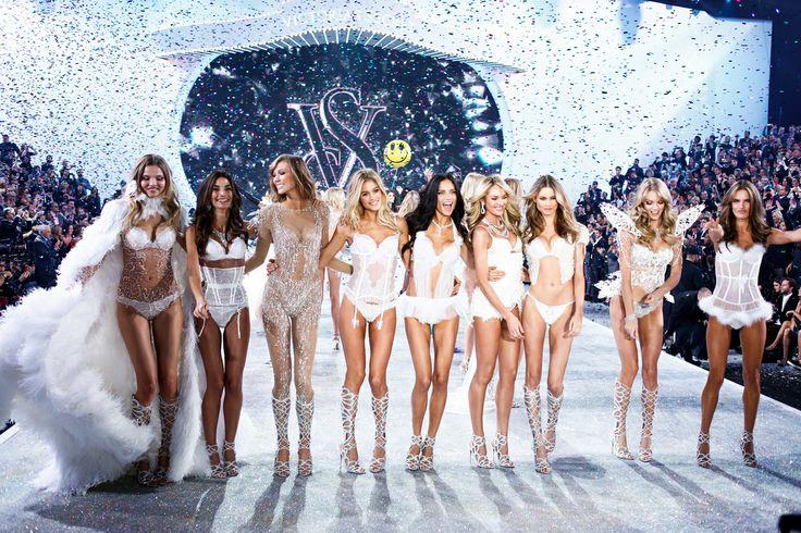 The Victoria's Secret Fashion Show Featuring Beautiful Victoria's Secret Models Modeling For The Victoria's Secret Fashion Runway Show After Successful Victoria's Secret Fittings.