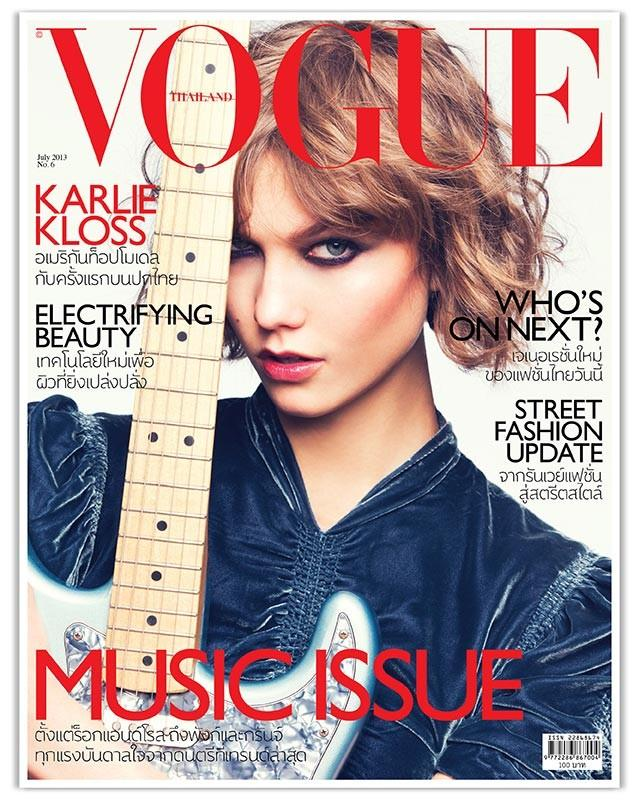 Beautiful American Model Karlie Kloss Modeling For The Cover Of Vogue Thailand Magazine And Vogue Thailand Fashion Editorials Modeling As One Of The Highest Paid Models In The World. Photographed By Famous Photographer David Bellemere.