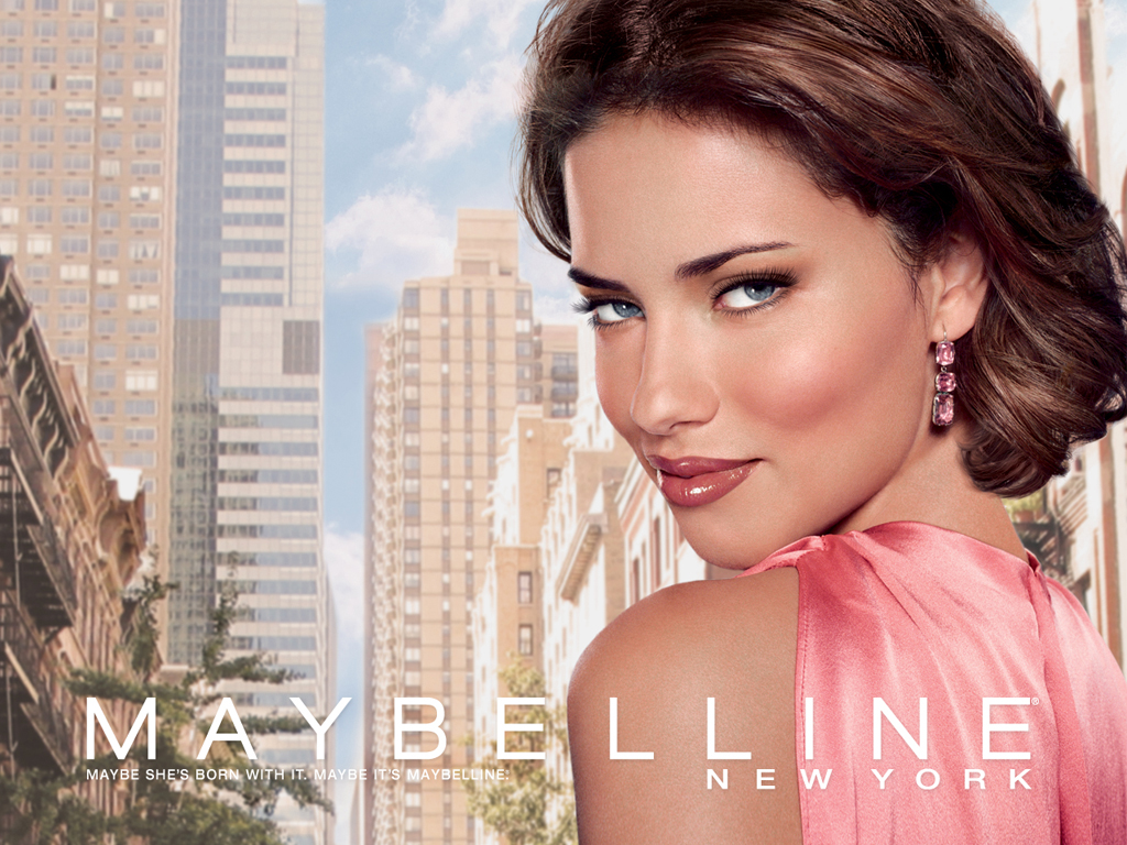 Beautiful Brazilian Fashion Model Adriana Lima Modeling For Maybelline New York Fashion Ads Modeling As One Of The Highest Paid Models In The World.