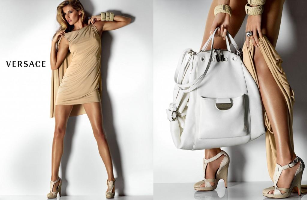 Beautiful Brazilian Fashion Model Gisele Bundchen Modeling For Versace Ads Modeling As The Highest Paid Model In Brazil (Brasil).