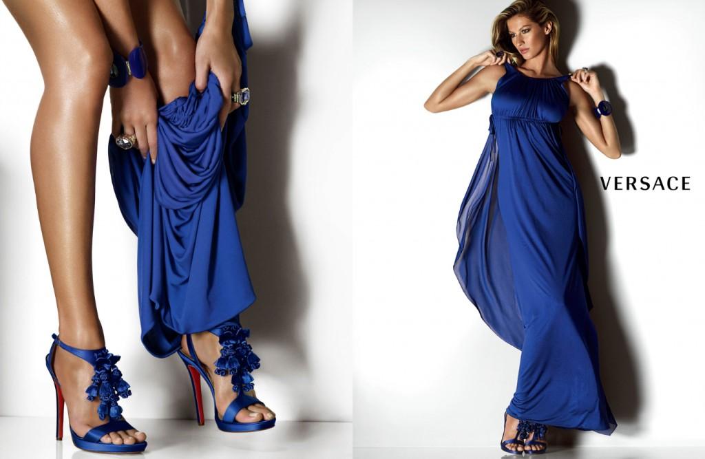 Beautiful Brazilian Fashion Model Gisele Bundchen Modeling For Versace Advertisements Modeling As The Highest Paid Model In Brazil (Brasil).