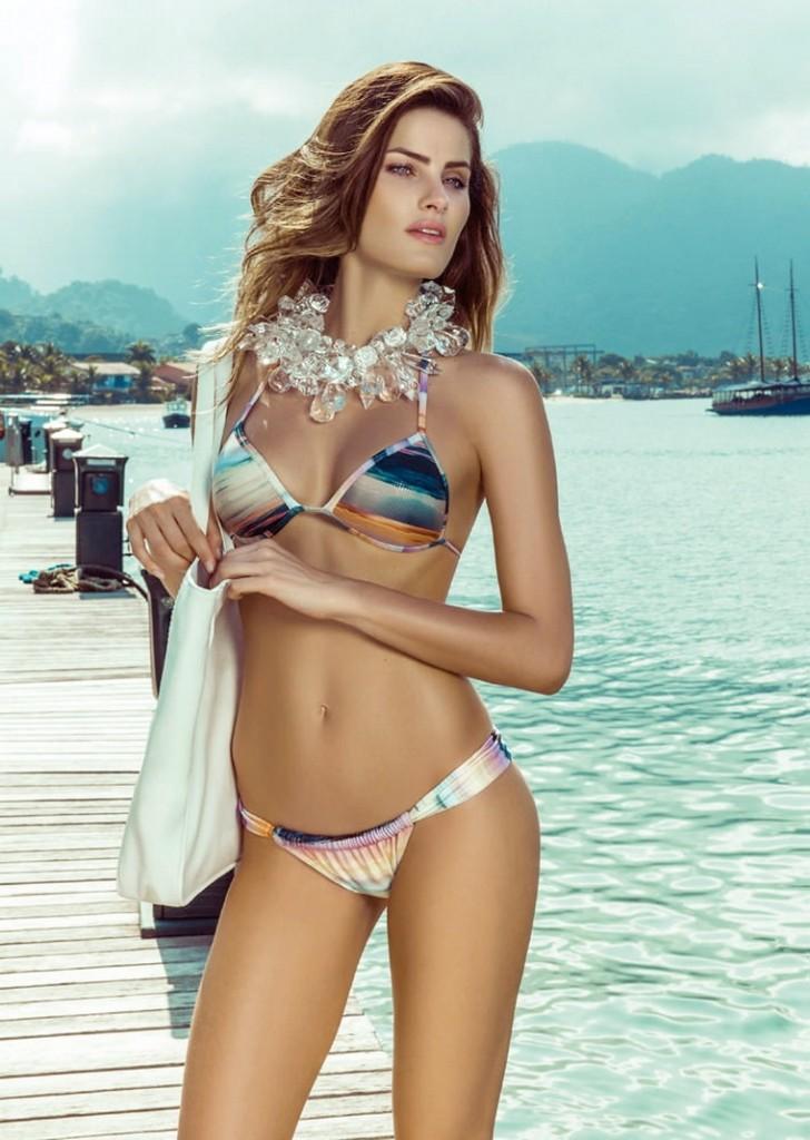 Beautiful Brazilian Fashion Model Isabeli Fontana Modeling For Morena Rosa Swimwear Modeling As One Of The Highest Paid Models In Brazil.