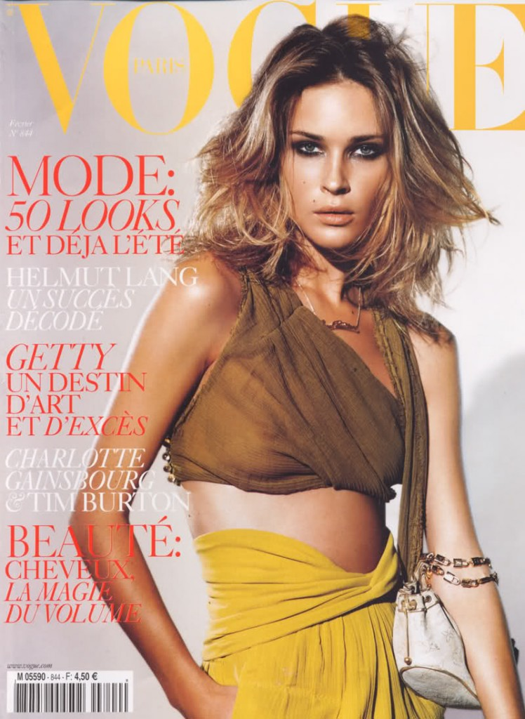Beautiful American Model Erin Wasson Modeling For The Cover Of Vogue Paris Modeling As One Of The Highest Paid Models In The World. The World's Highest Paid Models.