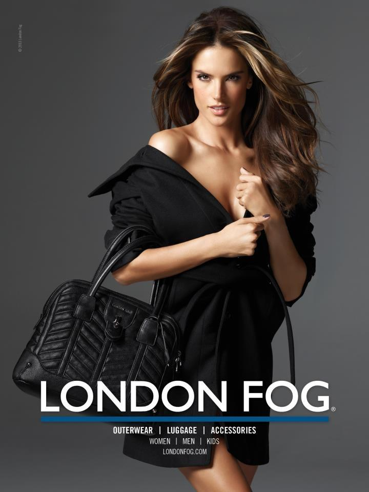 Beautiful Brazilian Model Alessandra Ambrosio Modeling For London Fog Ads And London Fog Advertisements Modeling As One Of The Highest Paid Models In The World. The World's Highest Paid Models.