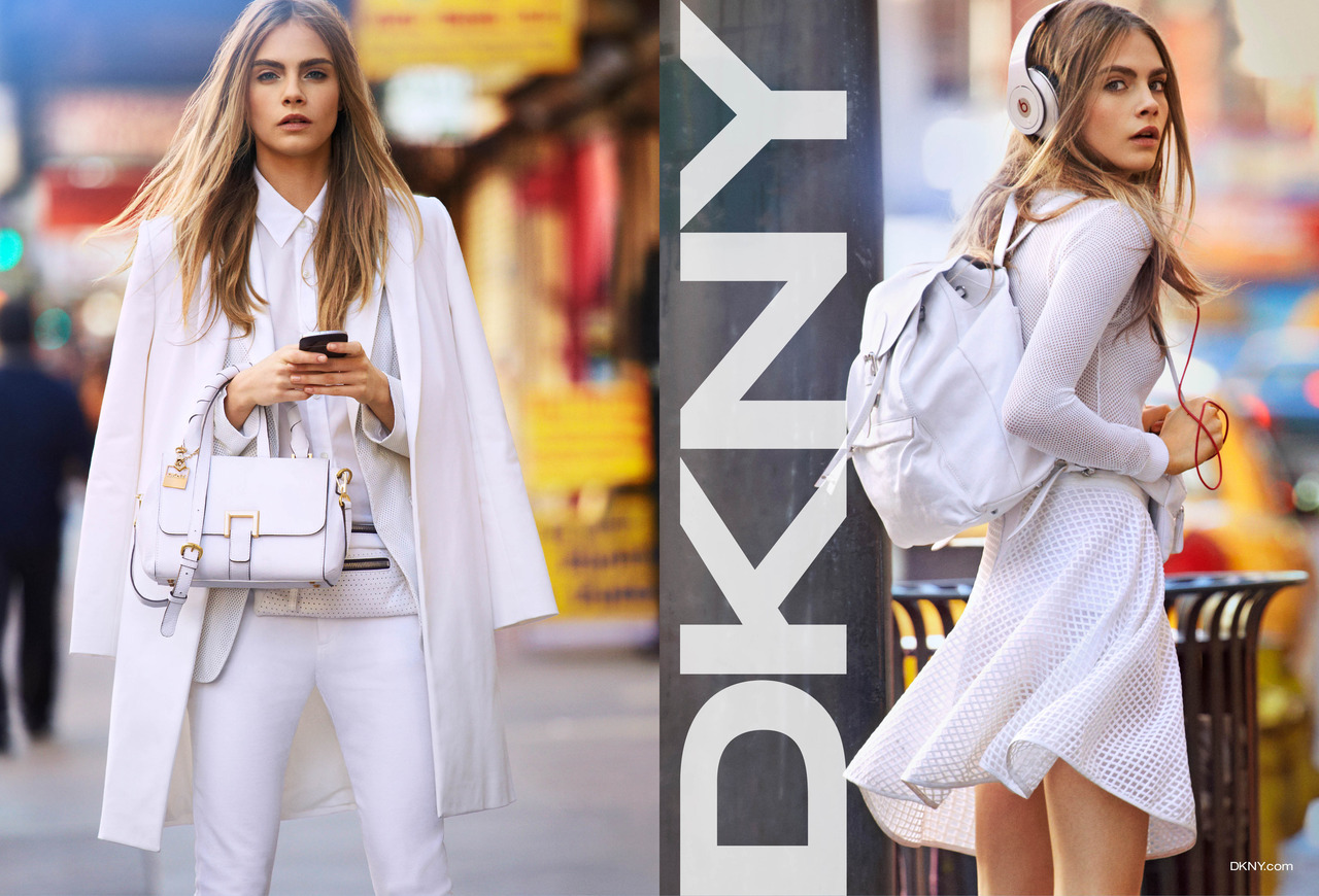 Beautiful British Model Cara Delevingne Modeling For DKNY Ads And DKNY Advertisements Modeling As One Of The Highest Paid Models In The World. The World's Highest Paid Models.