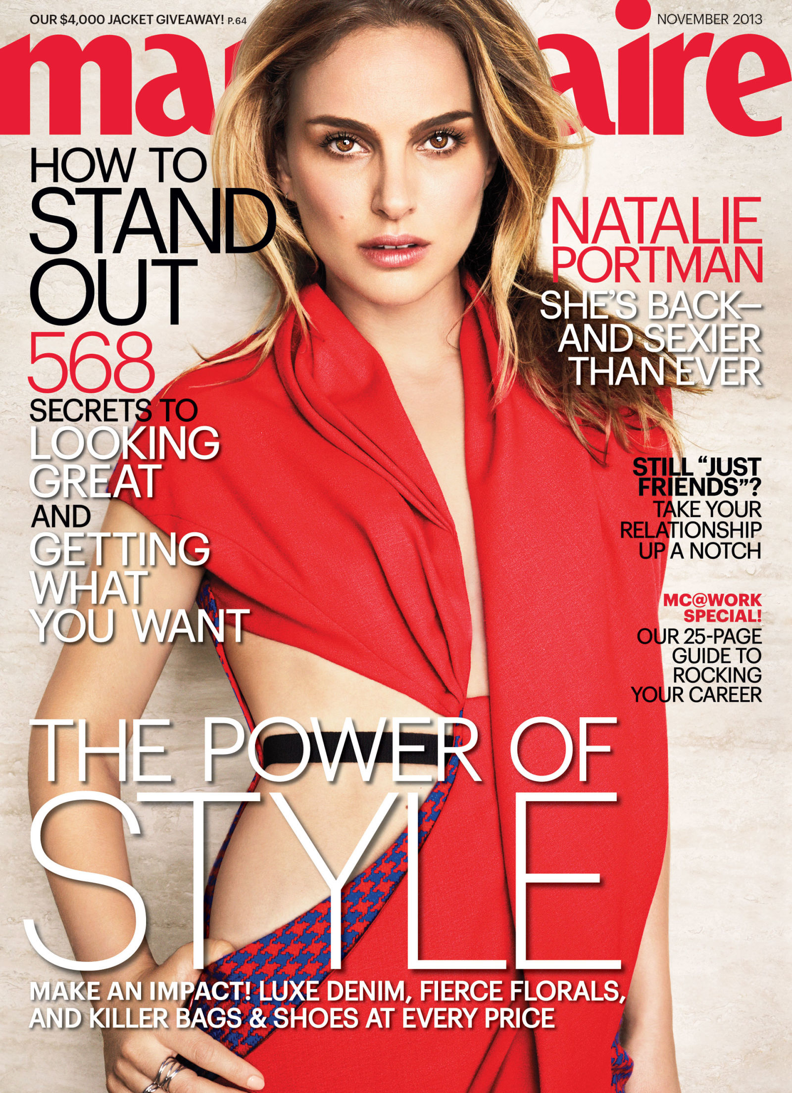 Beautiful Academy Award Winning Actress Natalie Portman Modeling For The Cover Of Marie Claire Modeling As One Of The Highest Paid Actresses In The World.