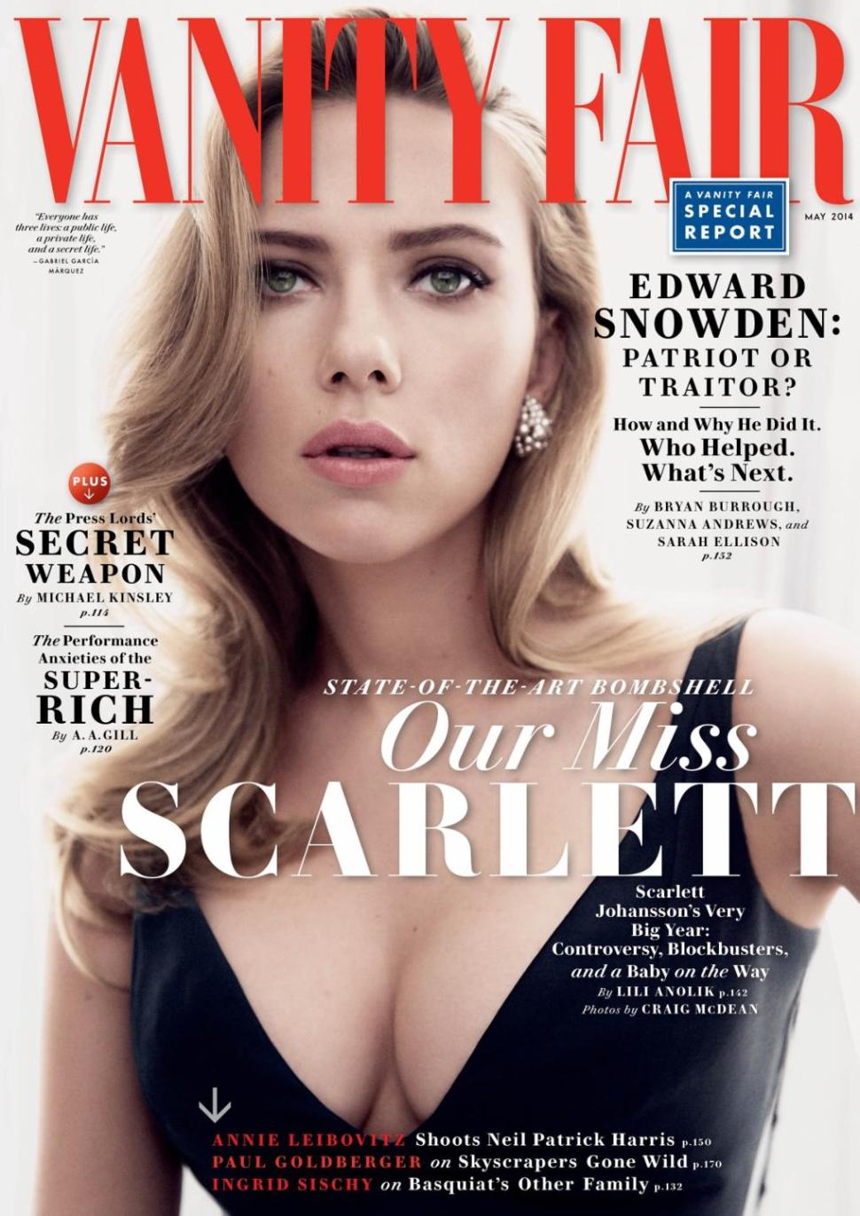 Beautiful American Actress Scarlett Johansson Modeling For The Cover Of Vanity Fair Modeling As One Of The Highest Paid Actresses In The World.