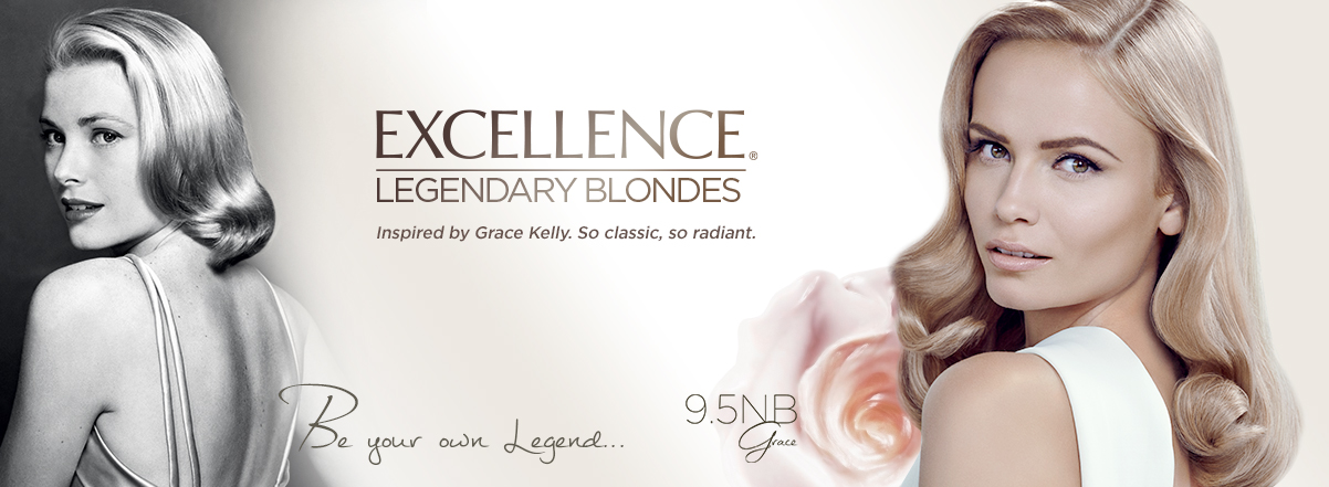 Beautiful Blonde Russian Fashion Model Natasha Poly Modeling For L'Oreal Paris Excellence Legendary Blondes Ads (L'Oreal Advertisements Inspired By Grace Kelly) Modeling As One Of The Highest Paid Models In The World.