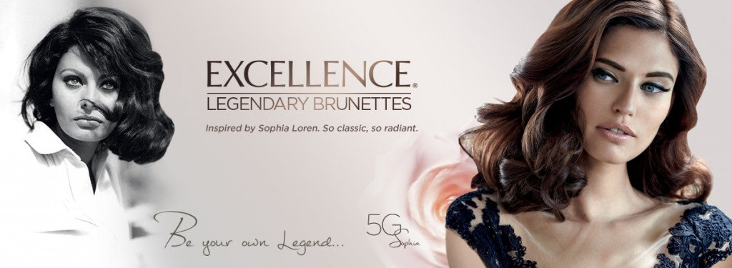 Beautiful Brunette Italian Fashion Model Bianca Balti Modeling For L'Oreal Paris Excellence Legendary Brunettes Ads (L'Oreal Advertisements Inspired By Sophia Loren) Modeling As One Of The Highest Paid Models In The World.