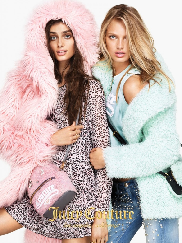 Beautiful Juicy Couture Fashion Models Romee Strijd And Taylor Hill Modeling For The Fall Winter Juicy Couture Advertising Campaign (Juicy Couture Ad Campaign).