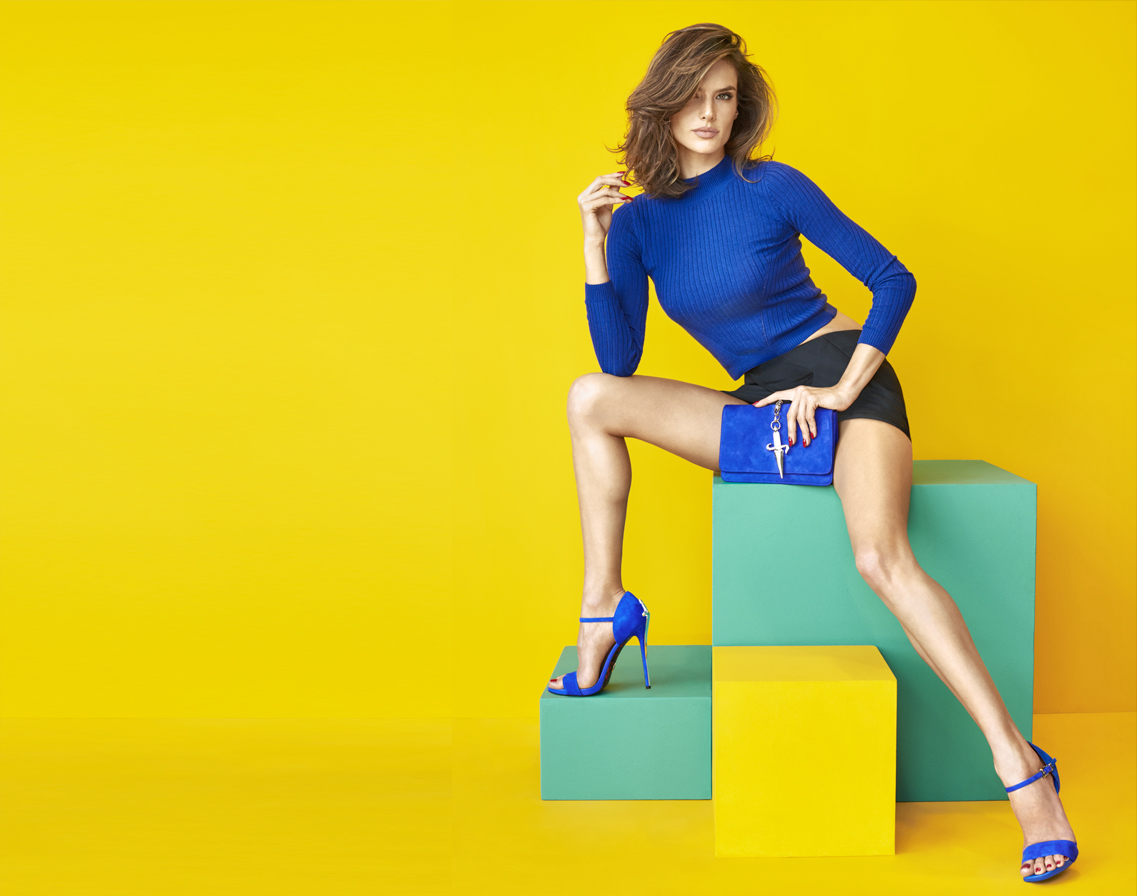 Beautiful Brazilian Fashion Model Alessandra Ambrosio Modeling For The Italian Shoe Label Cesare Paciotti Footwear Ads.