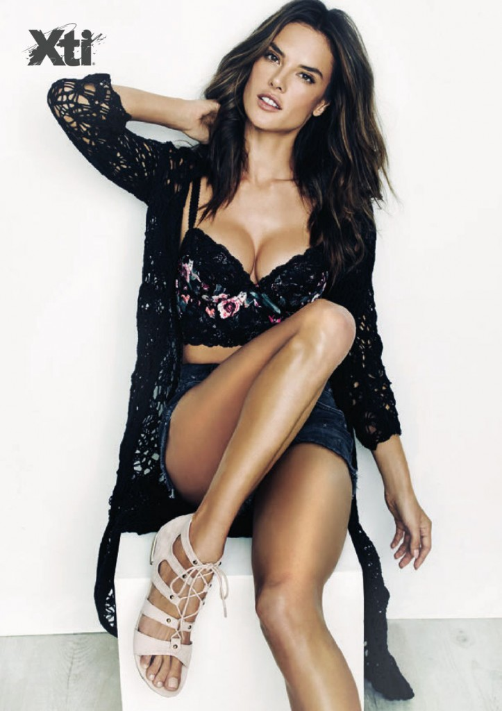 Beautiful Brunette Brazilian Fashion Model Alessandra Ambrosio Modeling For The Spanish Shoe Label Xti Footwear Advertising Campaign (Beautiful Xti Footwear Ads).