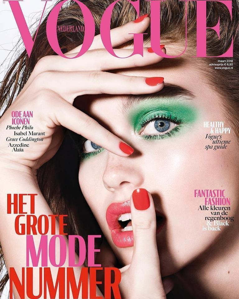 Beautiful Dutch Fashion Model Luna Bijl Modeling For The Cover Of Vogue Netherlands.