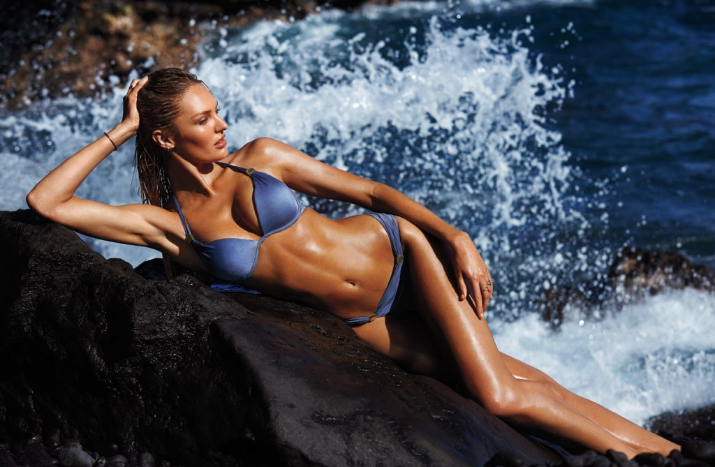 What Do Fashion Models Eat? What Do Supermodels Eat? Healthy Nutrition For Women & Female Fashion Models. Healthy Fruits & Vegetables For Beautiful Skin. Healthy Foods For Women. Beautiful Victoria's Secret Angel Candice Modeling For Victoria's Secret Swim.