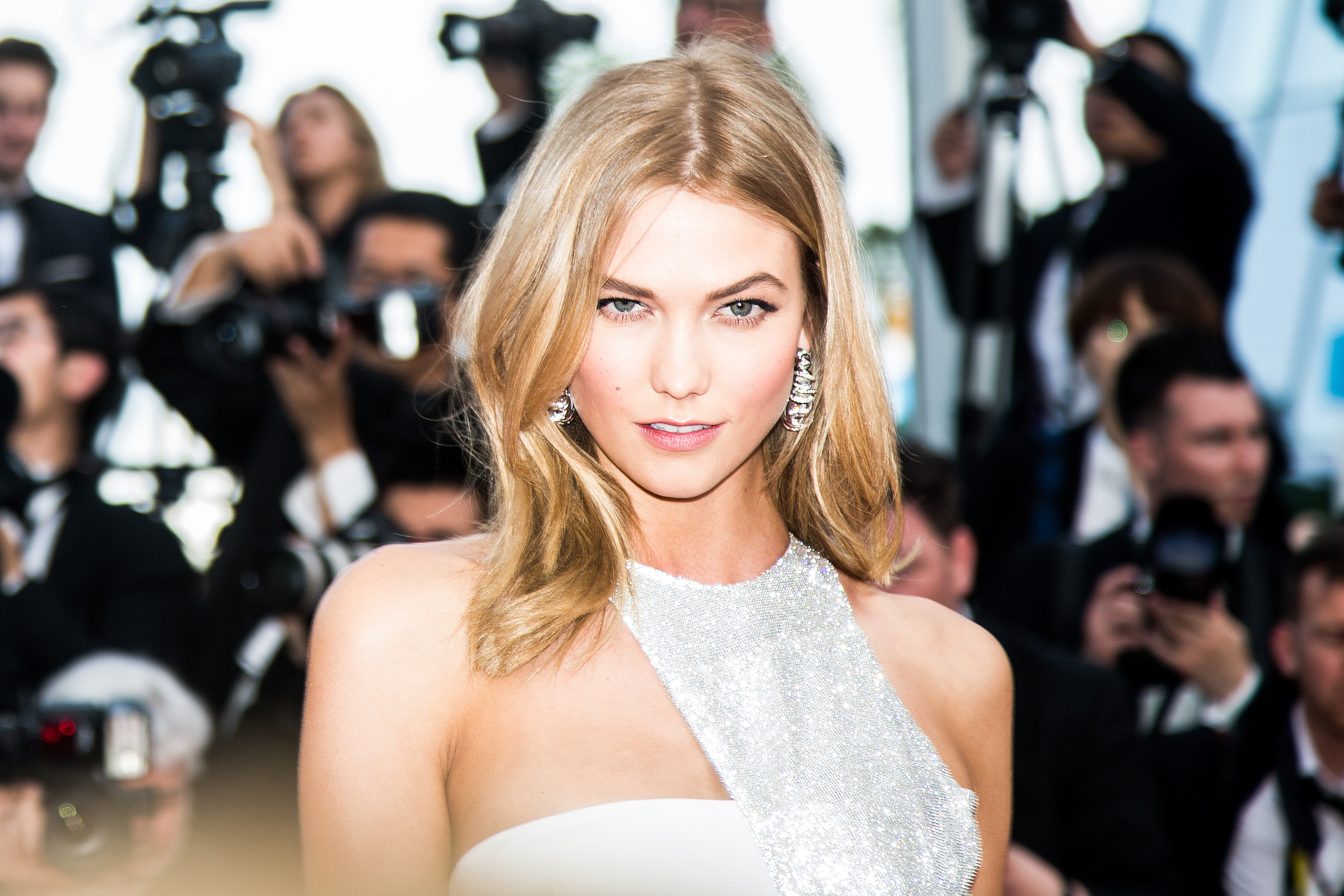 Famous American Supermodel Karlie Kloss Modeling At The Opening Ceremony And Premiere Of 'La Tete Haute' ('Standing Tall') During The 68th Annual Cannes Film Festival In Beautiful Cannes, France.