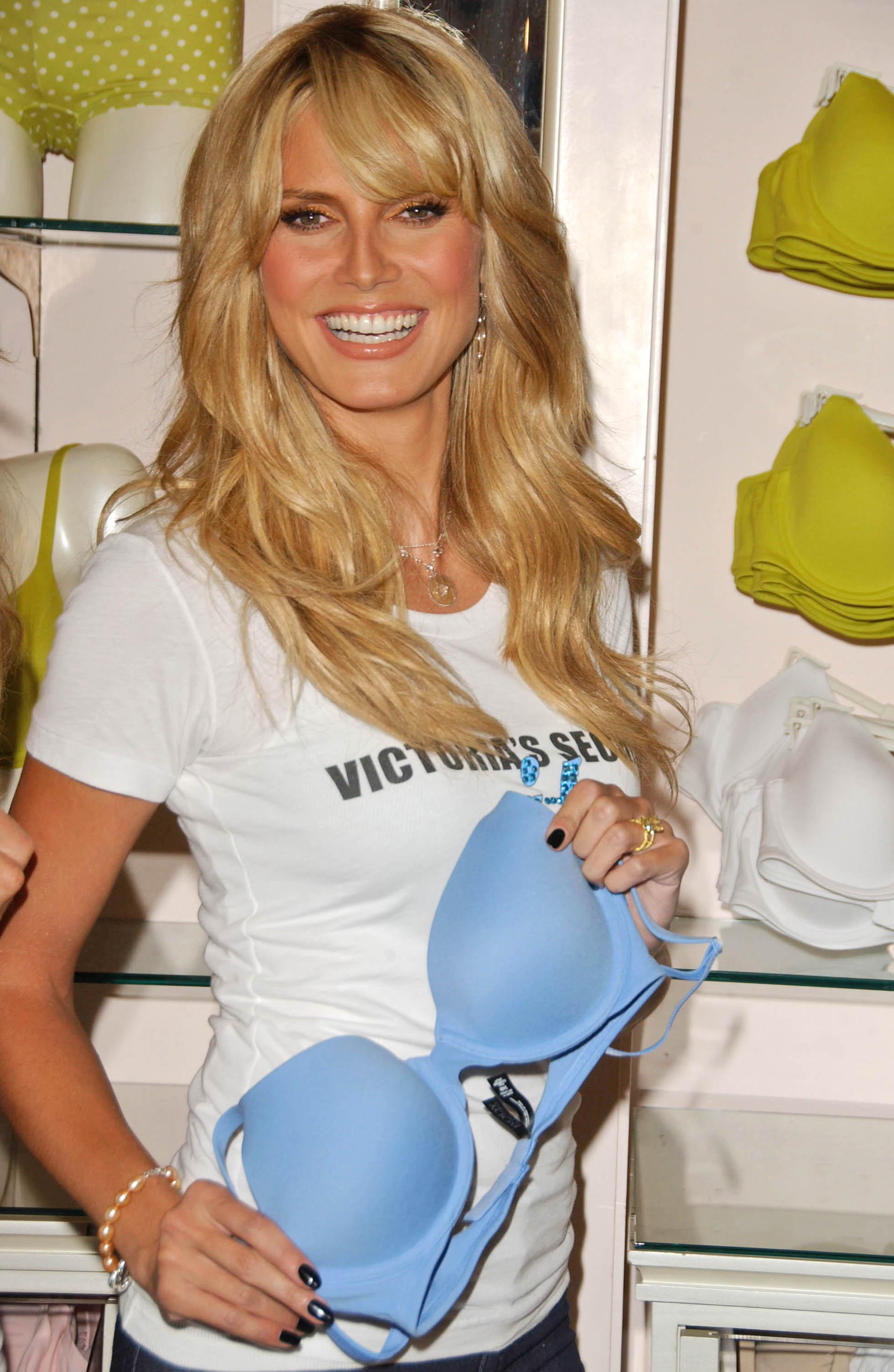 Famous German Supermodel Heidi Klum Modeling In Los Angeles California Modeling For Victoria's Secret.